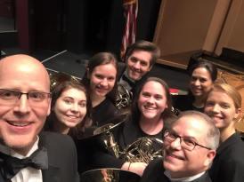 Horn section selfie!
